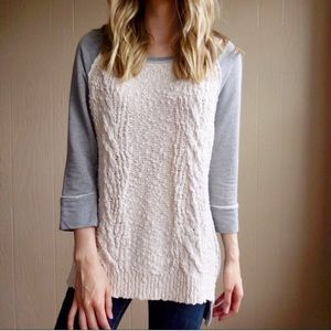 Anthropologie Park Knit Dolan Cable Sweater Top